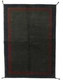 ギャッベ インド 絨毯 138X199 モダン 手織り 濃いグレー (ウール, インド)
