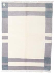 ギャッベ インド 絨毯 142X203 モダン 手織り ベージュ/薄い灰色 (ウール, インド)