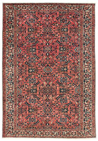 Bakhtiar Tapis 220X311 D'orient Fait Main Rouge Foncé/Noir (Laine, Perse/Iran)