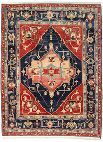 Heriz Matta 238X313 Äkta Orientalisk Handknuten Roströd/Mörkblå (Ull, Persien/Iran)