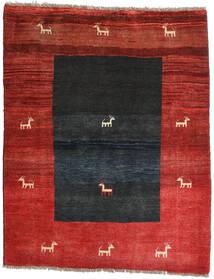 Gabbeh Rustic Teppich 136X169 Echter Moderner Handgeknüpfter Rost/Rot/Schwartz/Dunkelrot (Wolle, Persien/Iran)