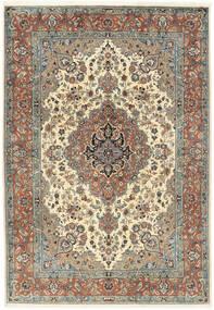 Sarough Vloerkleed 202X295 Echt Oosters Handgeknoopt Lichtbruin/Donkerbeige (Wol, Perzië/Iran)