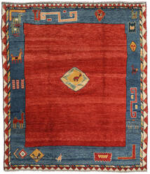 Gabbeh Rustic Rug 184X214 Authentic  Modern Handknotted Rust Red/Dark Blue (Wool, Persia/Iran)
