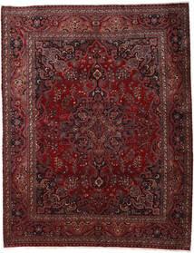 Maschad Teppich 300X382 Echter Orientalischer Handgeknüpfter Dunkelrot/Dunkelbraun Großer (Wolle, Persien/Iran)