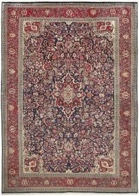 Sarough Vloerkleed 222X312 Echt Oosters Handgeknoopt Lichtgrijs/Donkerrood (Wol, Perzië/Iran)