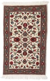 Ghom Kork/Silke Teppe 58X90 Ekte Orientalsk Håndknyttet Beige/Mørk Rød/Mørk Brun (Ull/Silke, Persia/Iran)