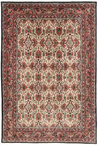 Bidjar Matta 218X317 Äkta Orientalisk Handknuten Mörkbrun/Mörkröd (Ull, Persien/Iran)
