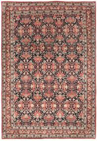 Bidjar Matta 214X319 Äkta Orientalisk Handknuten Mörkröd/Mörkbrun (Ull, Persien/Iran)