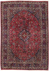 Mashad Teppe 200X287 Ekte Orientalsk Håndknyttet Mørk Brun/Mørk Rød (Ull, Persia/Iran)