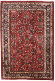 Mashad Teppe 196X292 Ekte Orientalsk Håndknyttet Mørk Rød/Mørk Brun (Ull, Persia/Iran)