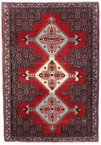 Senneh Tapis 74X106 D'orient Fait Main Marron Foncé/Rouge Foncé (Laine, Perse/Iran)