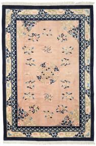 中国 アンティーク仕上げ 絨毯 198X297 オリエンタル 手織り 暗めのベージュ色の/黒 (ウール, 中国)