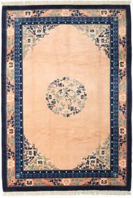 Chinois Finition Antique Tapis 198X290 D'orient Fait Main Rose Clair/Bleu Foncé (Laine, Chine)