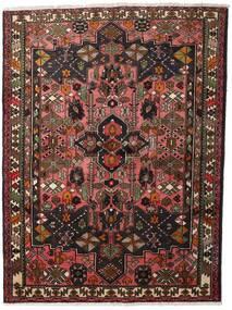 Hamadan Tæppe 150X200 Ægte Orientalsk Håndknyttet Mørkerød/Mørkebrun (Uld, Persien/Iran)