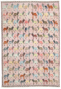Ushak Rug 200X294 Authentic Modern Handknotted Light Pink/Light Grey (Wool, Pakistan)