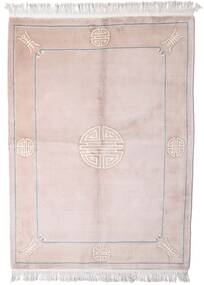 China 90 Line Rug 168X229 Authentic  Oriental Handknotted Light Pink/Beige (Wool, China)