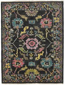 Ziegler Modern Teppich 172X224 Echter Moderner Handgeknüpfter Schwartz/Dunkelgrau (Wolle, Pakistan)