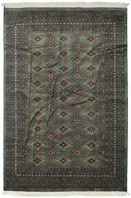 パキスタン ブハラ 2Ply 絨毯 202X297 オリエンタル 手織り 濃いグレー/濃い茶色 (ウール, パキスタン)