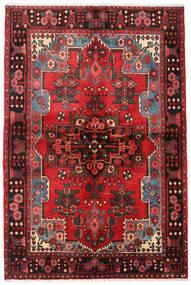 Nahavand Tapis 133X205 D'orient Fait Main Marron Foncé/Rouge Foncé (Laine, Perse/Iran)
