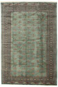 パキスタン ブハラ 3Ply 絨毯 199X294 オリエンタル 手織り 濃いグレー/深緑色の (ウール, パキスタン)
