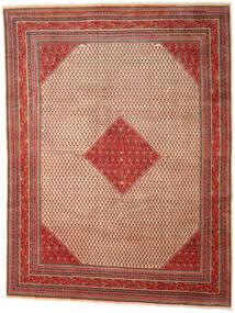 Sarough Mir Matta 273X353 Äkta Orientalisk Handknuten Mörkröd/Roströd Stor (Ull, Persien/Iran)