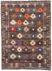 Moroccan Berber - Afghanistan Rug 125X172 Authentic  Modern Handknotted Dark Brown/Dark Red (Wool, Afghanistan)