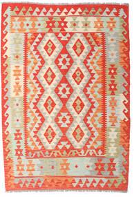Ćilim Afghan Old Style Sag 122X177 Autentični  Orijentalni Ručno Tkani Tamna Bež/Narančasta (Vuna, Afganistan)