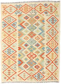 キリム アフガン オールド スタイル 絨毯 128X172 オリエンタル 手織り ベージュ/暗めのベージュ色の (ウール, アフガニスタン)