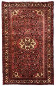 Hosseinabad Teppe 81X130 Ekte Orientalsk Håndknyttet Mørk Rød/Mørk Brun (Ull, Persia/Iran)