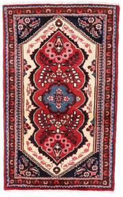 Hamadan Teppe 75X121 Ekte Orientalsk Håndknyttet Mørk Rød/Lyserosa (Ull, Persia/Iran)
