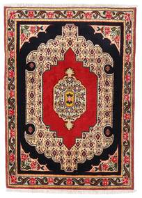 センネ 絨毯 74X105 オリエンタル 手織り 深紅色の/薄茶色 (ウール, ペルシャ/イラン)