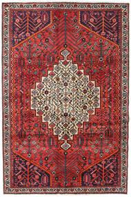 Shiraz Tapis 130X197 D'orient Fait Main Marron Foncé/Rouge Foncé (Laine, Perse/Iran)