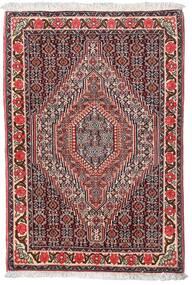 センネ 絨毯 75X110 オリエンタル 手織り 濃い茶色/深紅色の (ウール, ペルシャ/イラン)