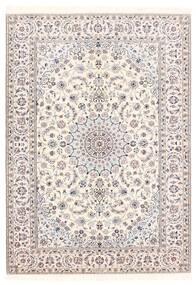 Nain 6La Teppich 156X222 Echter Orientalischer Handgewebter Hellgrau/Beige/Weiß/Creme (Wolle/Seide, Persien/Iran)