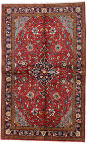 Mahal Rug 137X222 Authentic Oriental Handknotted Dark Red/Rust Red (Wool, Persia/Iran)