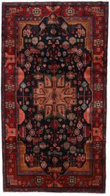 Nahavand Tapis 158X286 D'orient Fait Main Rouge Foncé/Noir (Laine, Perse/Iran)