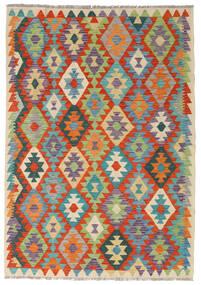 Ćilim Afghan Old Style Sag 124X178 Autentični  Orijentalni Ručno Tkani Tamnosiva/Tamna Bež (Vuna, Afganistan)