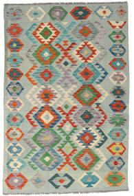 Kelim Afghan Old Style Vloerkleed 122X182 Echt Oosters Handgeweven Lichtgroen/Lichtgrijs (Wol, Afghanistan)
