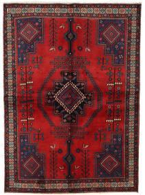 Afshar Tappeto 158X221 Orientale Fatto A Mano Rosso Scuro/Marrone Scuro (Lana, Persia/Iran)