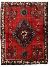 Afshar Teppe 164X220 Ekte Orientalsk Håndknyttet Rust/Mørk Rød/Svart (Ull, Persia/Iran)