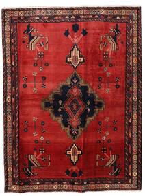 Afshar Tæppe 164X216 Ægte Orientalsk Håndknyttet Rust/Mørkerød (Uld, Persien/Iran)