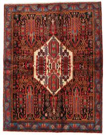 Afshar Teppich  168X217 Echter Orientalischer Handgeknüpfter Dunkelrot/Schwartz (Wolle, Persien/Iran)