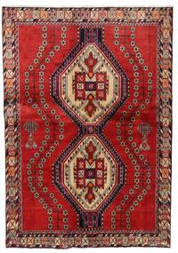 Afshar Tapis 138X200 D'orient Fait Main Rouille/Rouge/Marron Foncé (Laine, Perse/Iran)