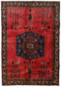 Afshar Teppe 176X254 Ekte Orientalsk Håndknyttet Mørk Brun/Mørk Rød/Rust (Ull, Persia/Iran)