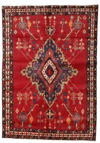 Afshar Tappeto 158X224 Orientale Fatto A Mano Rosso Scuro/Marrone Scuro/Rosso (Lana, Persia/Iran)