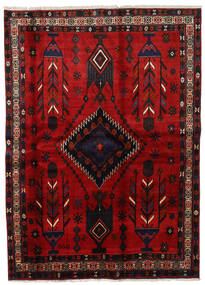 Afshar Rug 177X246 Authentic  Oriental Handknotted Dark Red/Rust Red (Wool, Persia/Iran)