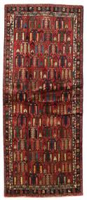 Afszar Dywan 93X224 Orientalny Tkany Ręcznie Chodnik Ciemnobrązowy/Ciemnoczerwony (Wełna, Persja/Iran)