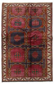 Lori Teppich 136X210 Echter Orientalischer Handgeknüpfter Dunkelrot/Schwartz (Wolle, Persien/Iran)