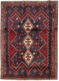 Afshar Rug 175X242 Authentic  Oriental Handknotted Dark Red/Black (Wool, Persia/Iran)