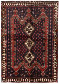Afshar Sag 148X211 Autentični  Orijentalni Ručno Uzlan Crna/Tamnocrvena (Vuna, Perzija/Iran)